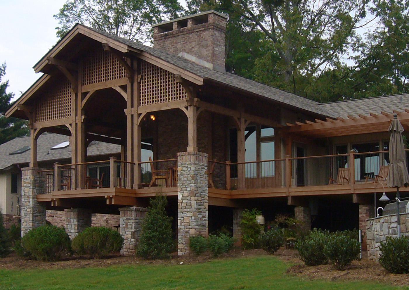 An Outdoor Porch Provides Shade