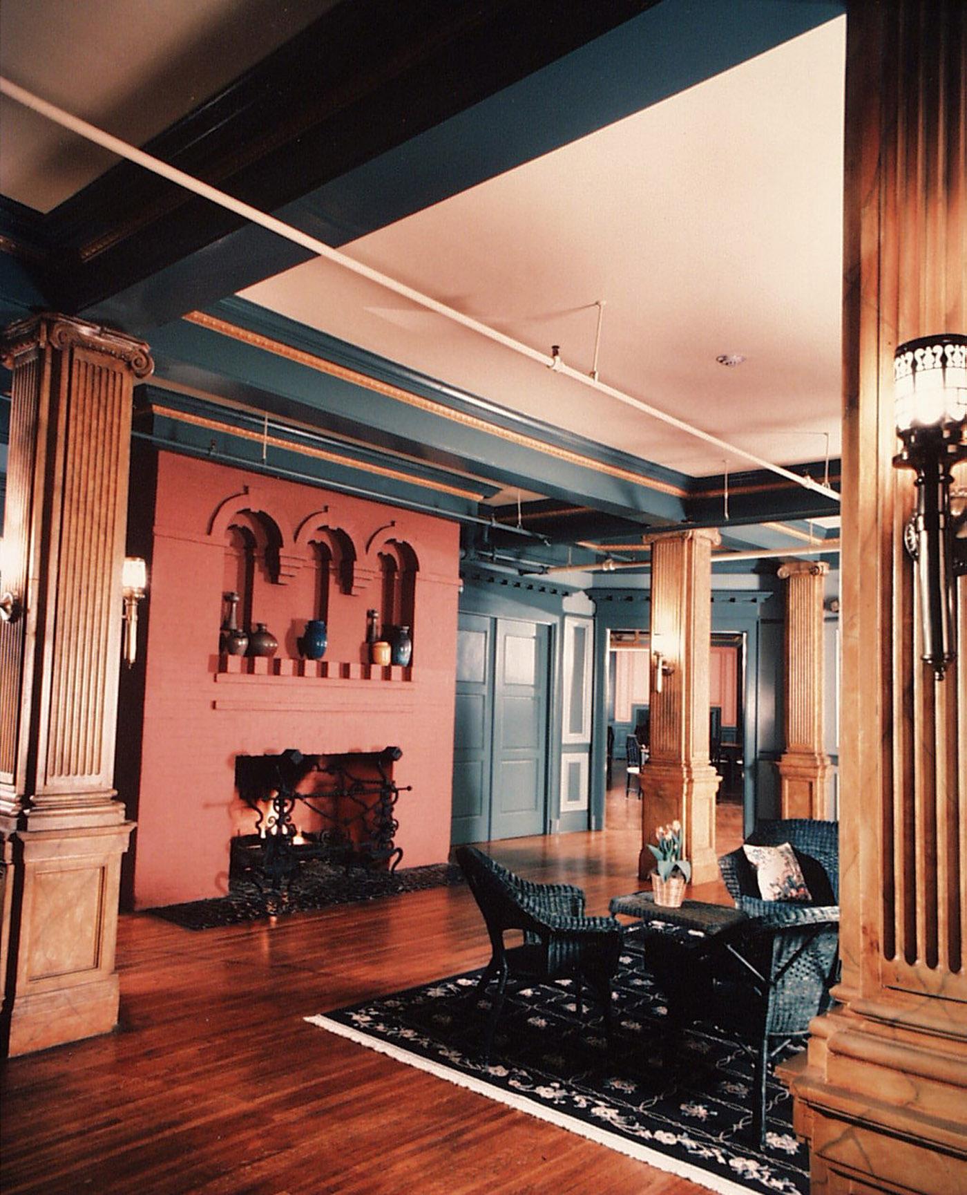 Manor interior entry